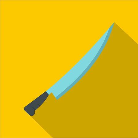Long knife icon. Flat illustration of long knife vector icon for web