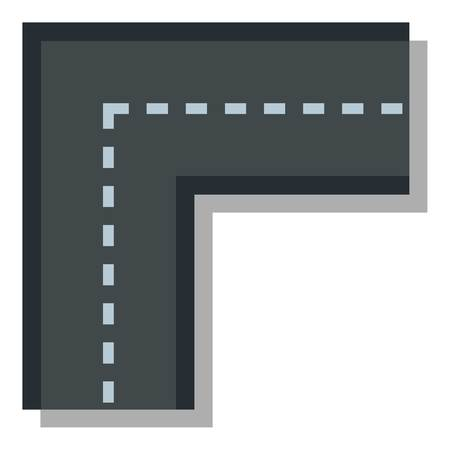 junction: Turning road icon. Flat illustration of turning road vector icon for web