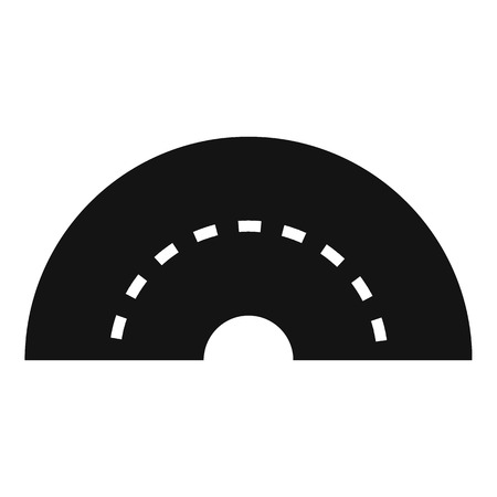 turning: Round turning road icon. Simple illustration of round turning road vector icon for web