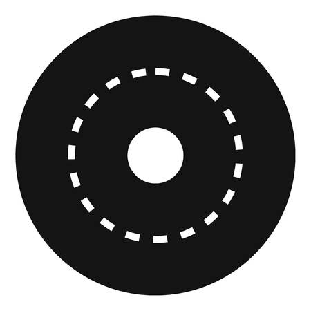 Circle road icon. Simple illustration of circle road vector icon for web