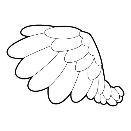 seraphic: Big wing icon, outline style Illustration