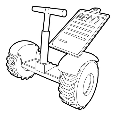 rent: Rent segway icon, outline style