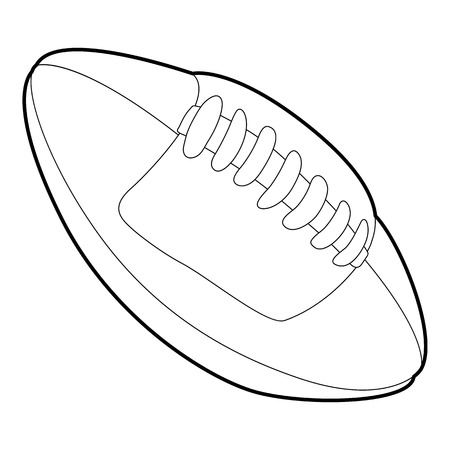 rugby ball: Rugby ball icon, outline style Vectores