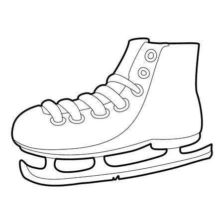 shoelace: Ice skate icon, outline style Illustration