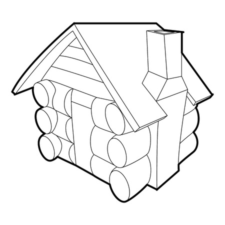 Small hut icon, outline style