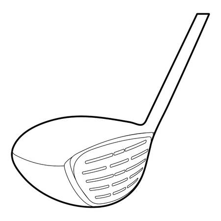 silver grass: Golf stick icon, outline style