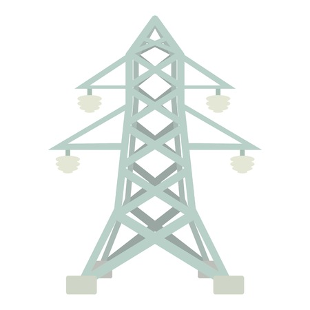 Electric pole icon, cartoon style