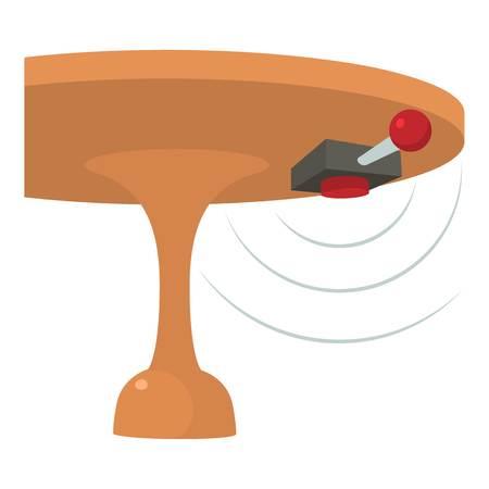 Listening device icon, cartoon style