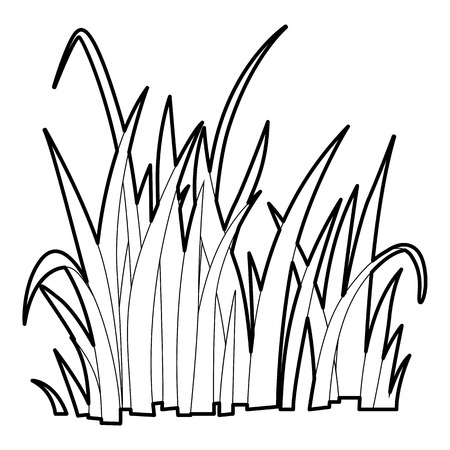 grass: Grass icon, outline style