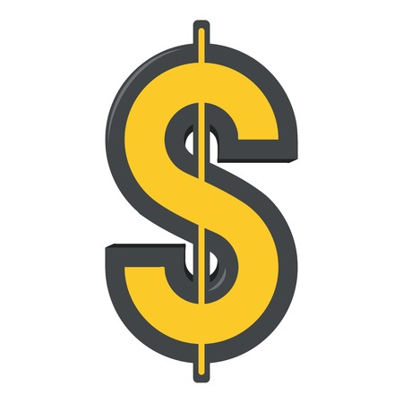 Dollar icon, cartoon style