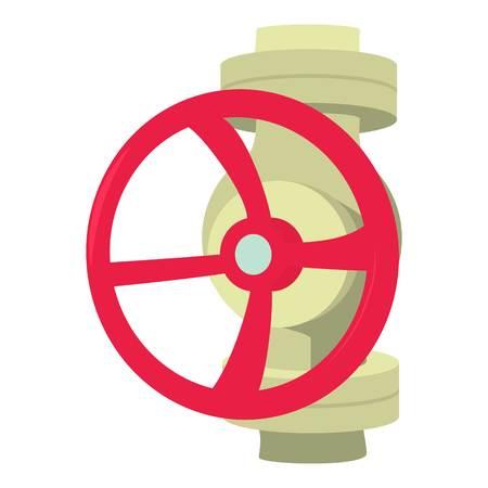 Valve icon, cartoon style