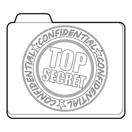top secret: Top secret icon, outline style