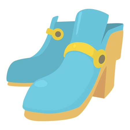 big foot: Two boots icon , cartoon style