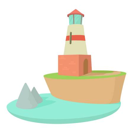 Lighthouse icon , cartoon style