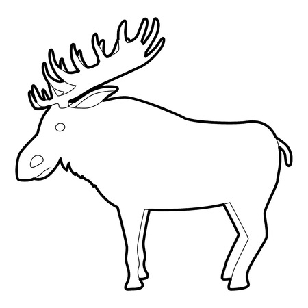 wilderness area: Elk icon , outline style