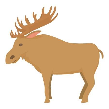 wilderness area: Elk icon , cartoon style