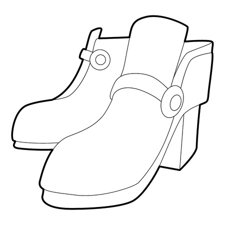 Two boots icon , outline style