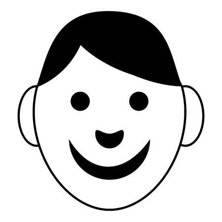black baby boy: Boy icon, simple style