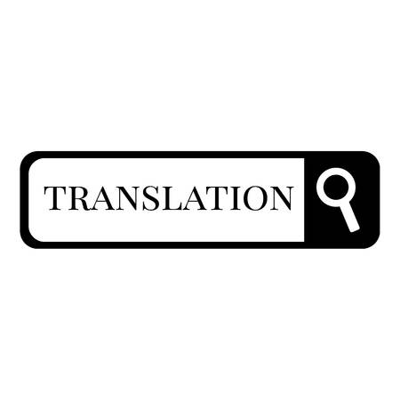 pronunciation in letters: Internet translation icon, simple style