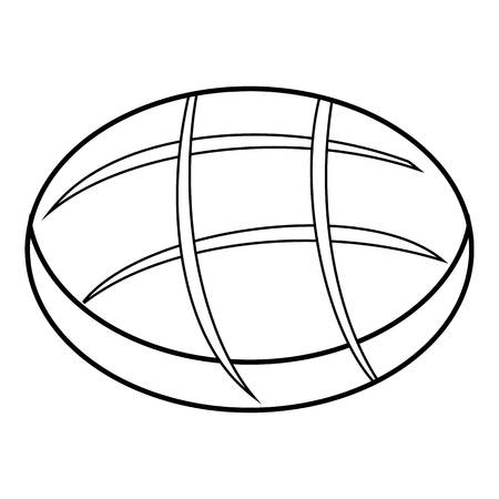 fresh bread: Fresh bread icon , outline style