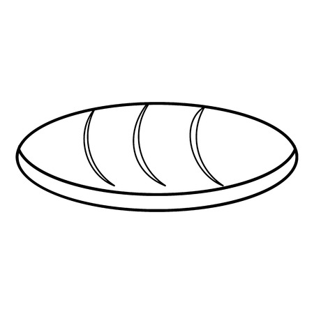 toasted: Loaf icon , outline style