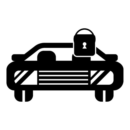 Car locked icon , simple style