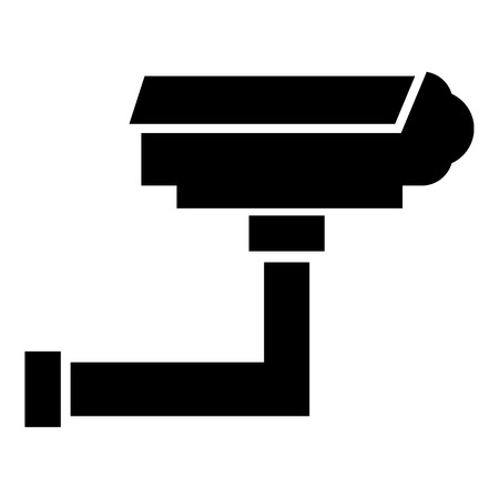 monitored: Security camera icon , simple style