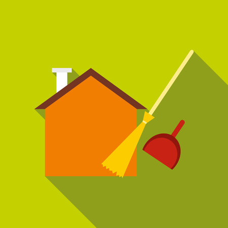 Cleaning icon, flat style