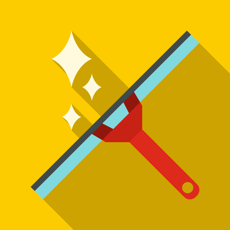 Window squeegee icon, flat style Illustration