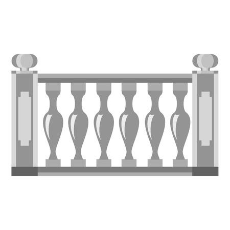 Balustrade icon, cartoon style Stock Illustratie