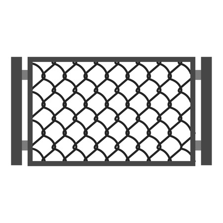 perforated: Perforated gate icon, cartoon style
