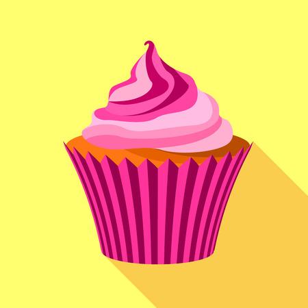 Maffin icon, flat style Illustration