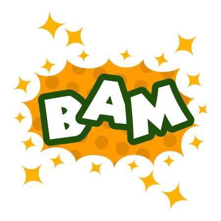 Bam icon, pop art style