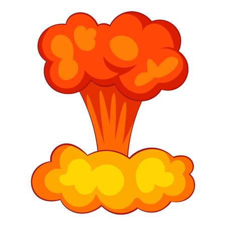 Explosion of nuclear bomb icon. Cartoon illustration of explosion of nuclear bomb vector icon for web