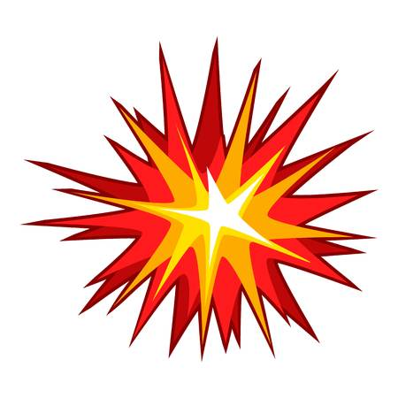Explode effect icon. Cartoon illustration of explode effect vector icon for web