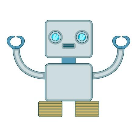 robotic: Robotic toy icon, cartoon style