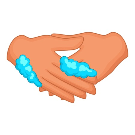 Washing hands icon. Cartoon illustration of washing hands vector icon for web