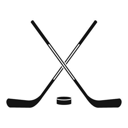 Ice hockey sticks icon. Simple illustration of ice hockey sticks vector icon for web