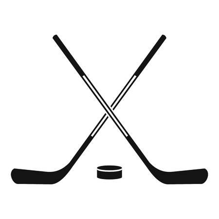 Ice hockey sticks icon. Simple illustration of ice hockey sticks vector icon for web