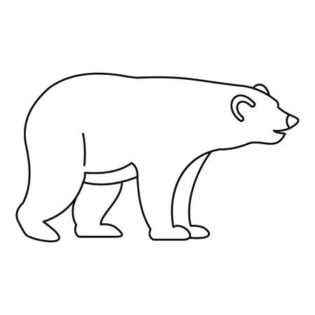 colorado rocky mountains: Bear icon, outline style Illustration