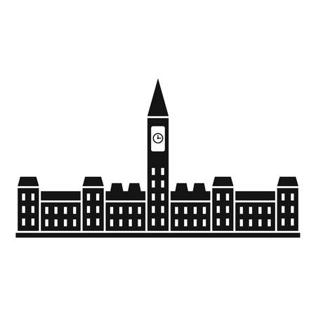Parliament Building of Canada icon, simple style