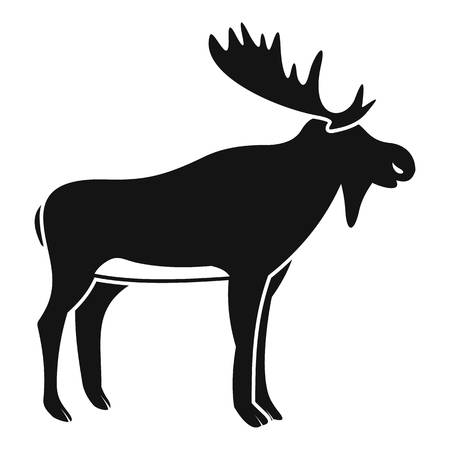 Deer icon, simple style Illustration