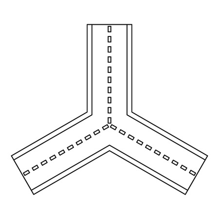 forked: Forked road icon, outline style