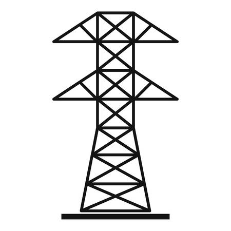 powerline: High voltage tower icon, simple style