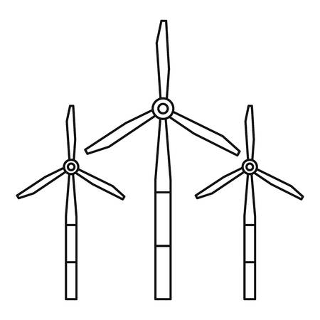 energy production: Windmills for electric energy production icon