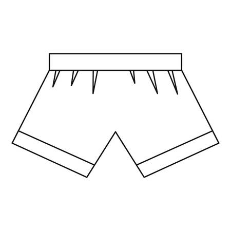 snug: Boxer briefs icon, outline style