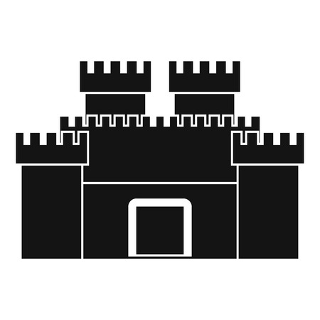 Ancient fortress icon, simple style