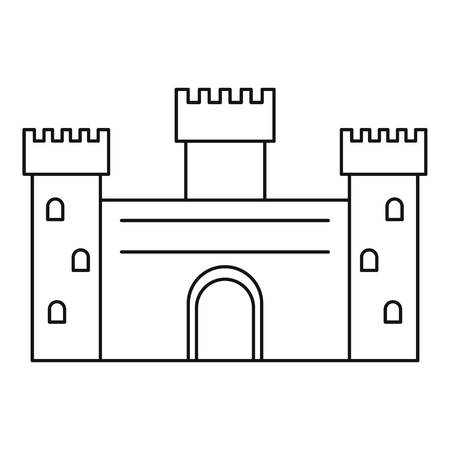 Ancient Castle Icon Outline Style Stock Vector