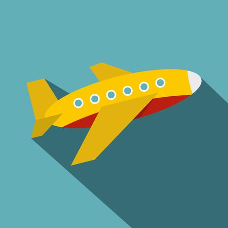 Plane icon, flat style Illustration