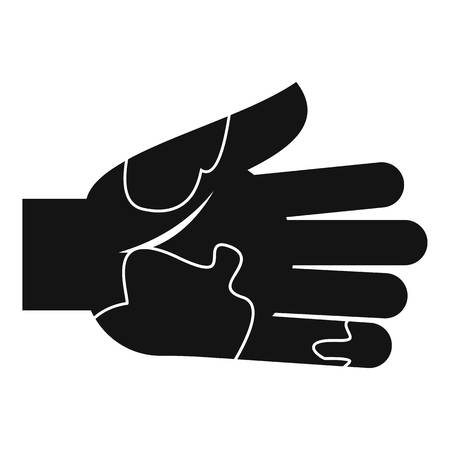 unhygienic: Hand with stains icon, simple style Illustration